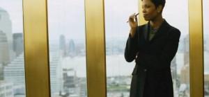 black woman suit