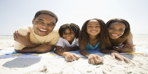 black_family_on_beach