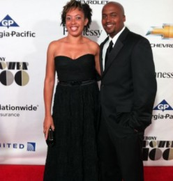Lamar and Ronnie Tyler on red carpet of Ebony Power 100 Gala