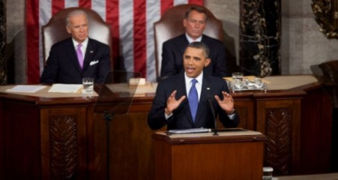 President Barack Obama addresses a Joint Session of Congress. Photo Credit: Official White House Photo by Chuck Kenned