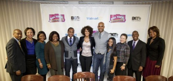 Panelists from the Box Tops of Education Town Hall held on the campus of Spelman College on January 24, 2012.  Photo Credit: General Mills
