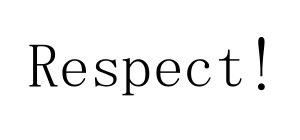 Respect Text Image