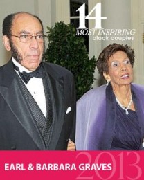 Photo Taken from BLF's 14 Most Black Inspiring Couples list.  Features EARL & BARBARA GRAVES as The Legacy Keepers.
