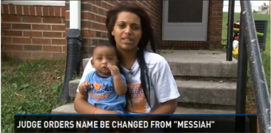 Jaleesa Martin was ordered to change her 7-month-old baby boy's name from Messiah to Martin. Reported by WBIR-TV