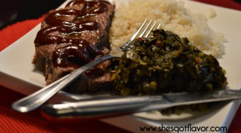 Bourbon-Bar-B-Que-Brisket-greens-and-rice-oh-yeah