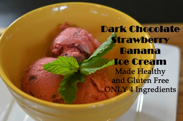 Dark Chocolate Strawberry Bananna Ice Cream Feature 4