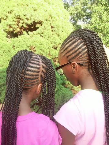 Phenomenal Holiday Natural Hair Styles For Children Blackandmarriedwithkids Com Hairstyles For Women Draintrainus