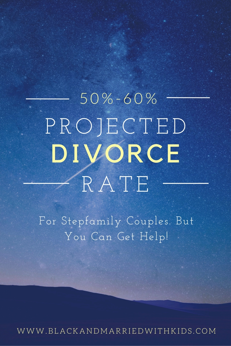 The divorce rate for stepfamilies