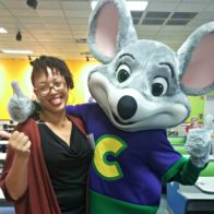 Me and Chuck E. Cheese. I'm definitely loving it!