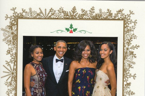 The Obamas final Christmas card in office (2016)