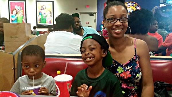 After four years, Stephanie is rediscovering Chuck E. Cheese's with her boys.