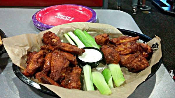 The kids and I loved these Buffalo wings at Chuck E. Cheese's.