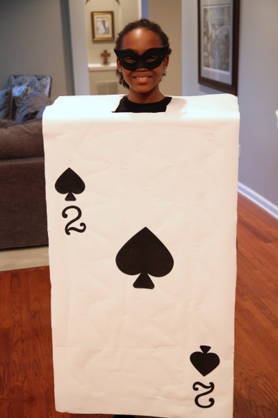 My girls will look great in their playing card Halloween costumes that I made from a box and items from around the house. We also ordered a few items using #AmazonPrime.