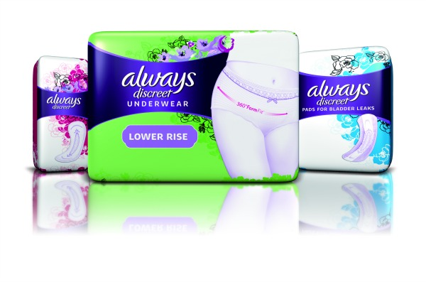 Always Discreet for sensitive bladders provides incredible-performing, discreet protection, with a line of products that feature exclusive technology including, RapidDry™ that absorbs leaks in seconds, Dual LeakGuards™ that help stop leaks where they happen most and OdorLock™ that neutralizes urine odors instantly.